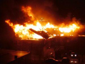 Пожар в Новосибирске: горел барак у Ленинского рынка