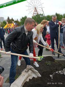 Чиновники мэрии высадили деревья на Михайловской набережной