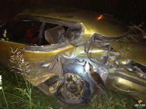 Ночное ДТП на трассе в Новосибирской области - пострадал водитель