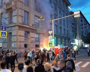 На День города в Новосибирске загорелись палатки с сахарной ватой