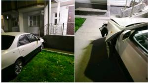 Пьяный на «Тойоте» врезался в подъезд жилого дома в Новосибирске