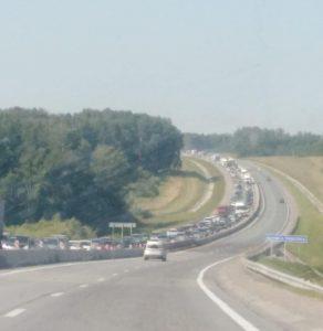 10-километровая пробка собралась на Северном объезде