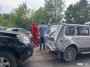 Четыре авто столкнулись на улице Объединения - собралась пробка