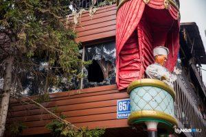 В Новосибирске сгорел ресторан PuppenHaus