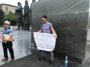 В Новосибирске голодает снятый с выборов кандидат в мэры