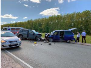 В лобовом ДТП на Чуйском тракте погибли два пассажира