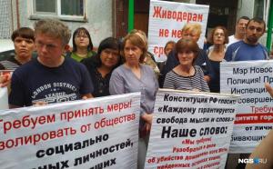 Пикет против жестокого убийства кота прошел в новосибирском Академгородке