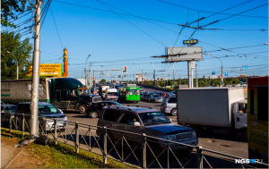 Пробка на углу Ватутина и Немировича-Данченко - погасли светофоры