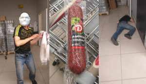 В Новосибирске голодный магазинный вор уснул при задержании