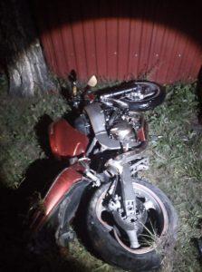 В Новосибирской области погиб мотоциклист без прав