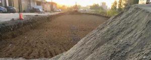 Новую дорогу строят в новосибирских Родниках