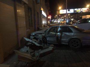 ДТП на Большевистской: неуправляемый «Ниссан» врезался в машину ГИБДД