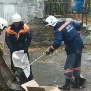 Замёрзшего енота поймали на ОбьГЭСе спасатели