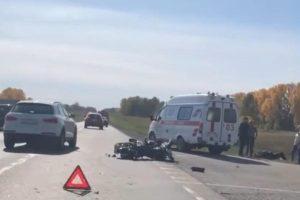 В ДТП под Новосибирском мотоциклист сломал ногу