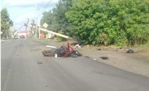 Трагедия в Куйбышеве - мотоциклист насмерть сбил женщину