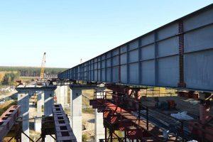 Сегодня в Новосибирске закончилась надвижка левой плети моста через реку Иня