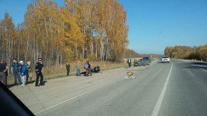 Мотоциклиста насмерть сбили под Новосибирском