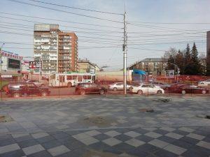 ДТП с фурой в Калининском районе Новосибирска: собирается пробка