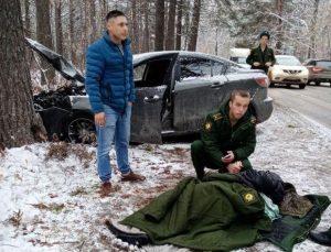 Четыре новосибирских курсанта получили медали за спасение девушки
