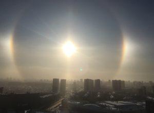 Гало появилось в небе над Новосибирском