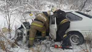 Смертельное ДТП в Новосибирской области: девушка врезалась в автовоз