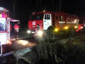 Причину пожара на станции Мочище выясняют Дознаватели МЧС