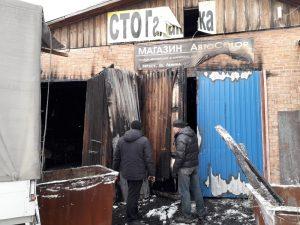 Пожар в СТО в центре Бердска - погиб мужчина