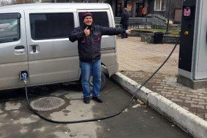В Центральном районе Новосибирска запустили первую заправку для электромобилей