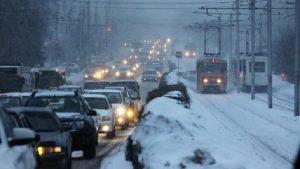 Девятибалльные пробки сковали Новосибирск