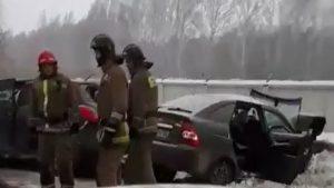 Лобовое ДТП под Новосибирском - пострадали четыре человека