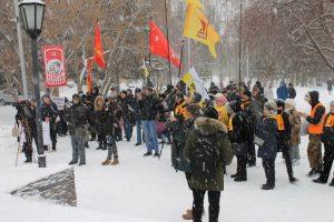 В Нарымском сквере прошел митинг против повышения цен на проезд