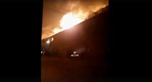 Крупный склад с пухом сгорел в Новосибирской области