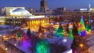 Театральный сквер выбран местом установки главной ёлки Новосибирска