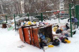 В Новосибирске 1 января скопились горы мусора