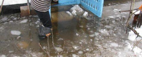 Несколько частных домов в Новосибирске оказались затопленными