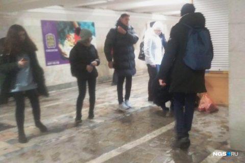 В переходе на станции «Студенческой» упала женщина