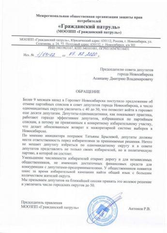 Активисты торопят новосибирских депутатов с отменой партийных списков