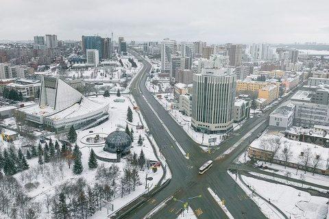 Фотограф снял с высоты пустой Новосибирск