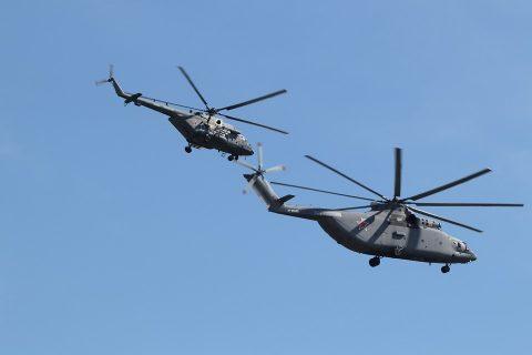 Вертолеты над Бердском тренировались в тушении пожаров