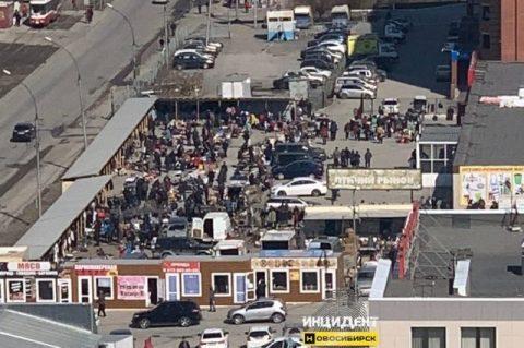 На Ленинском рынке в Новосибирске устроили массовый шоппинг