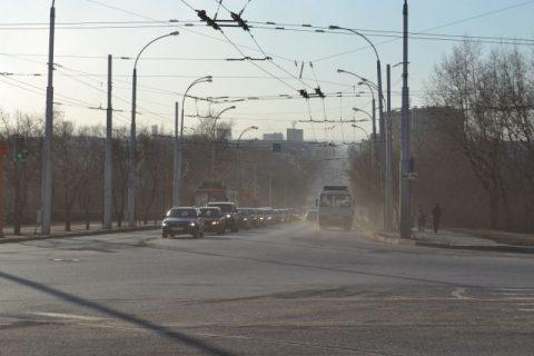 Штормовое предупреждение объявлено из-за пыли в Новосибирске