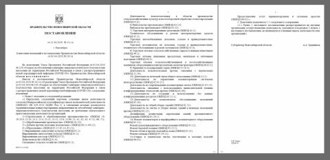 Власти Новосибирска разрешили предприятиям работать в карантин