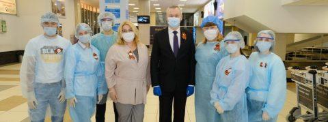 Губернатор поблагодарил волонтеров-медиков в Новосибирске