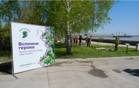 На ОбьГЭСе высадили сиреневую аллею в память о Героях ВОВ
