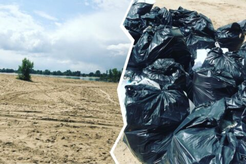 11 новосибирцев очистили от мусора дикий пляж на Оби