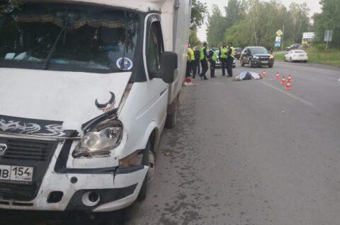 Водитель ГАЗели насмерть сбил женщину в Новосибирске