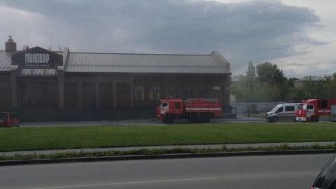 В Новосибирске загорелись бани