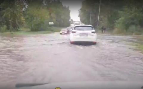 В Новосибирске снова прошел ливень с градом