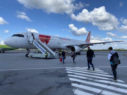 Из Толмачево улетели задержанные рейсы