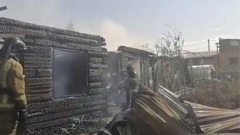 Крупный пожар ликвидировали под Новосибирском
